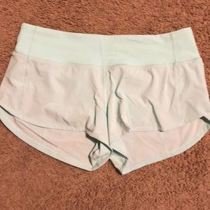 Mint Green Size 6 Lululemon Speed Up Shorts